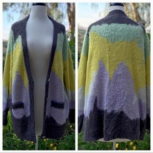 Multi-Color Cardigan Sweater